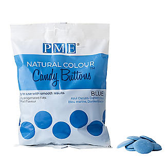 PME Natural Colour Candy Buttons Blue 200g