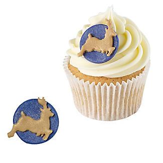 Midnight Sparkle Reindeer Sugarcraft Cake Toppers – Pack of 5 alt image 2