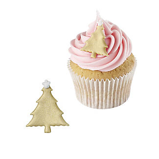 Glistening Gold Tree Edible Sugarcraft Cake Toppers – Pack of 6 alt image 2
