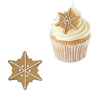 Gingerbread Snowflakes Edible Sugarcraft Cake Toppers – Pack of 6 alt image 2