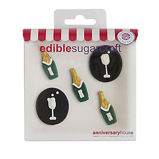 Celebration Edible Cake Toppers – Pack of 5