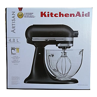KitchenAid Artisan 4.8L Stand Mixer Matte Black Glass Bowl 5KSM156BBM  alt image 7