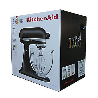 KitchenAid Artisan 4.8L Stand Mixer Matte Black Glass Bowl 5KSM156BBM  alt image 9
