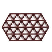 Zone Denmark Triangles Silicone Trivet Large – Aubergine