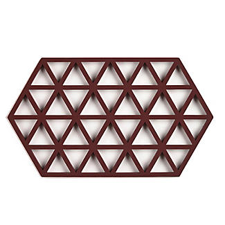 Zone Denmark Triangles Silicone Trivet Large – Aubergine