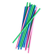 100 Swantex Paper Drinking Straws – Neon Colours
