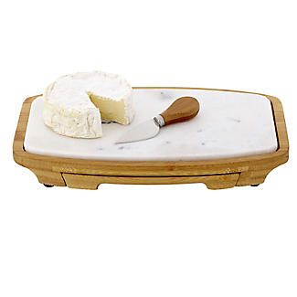 Lakeland Marble and Bamboo Cheeseboard and 4-Piece Knife Set alt image 4