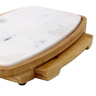 Lakeland Marble and Bamboo Cheeseboard and 4-Piece Knife Set alt image 5