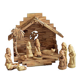 Olive Wood Nativity Scene Set