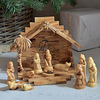 Olive Wood Nativity Scene Set alt image 2