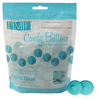 Knightsbridge PME Candy Buttons Light Blue 340g