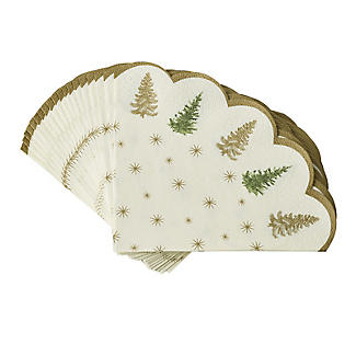 Cotswold Tree Scalloped Paper Napkins – Pack of 20