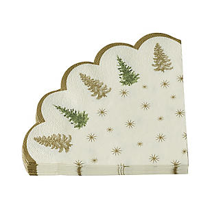 Cotswold Tree Scalloped Paper Napkins – Pack of 20 alt image 4