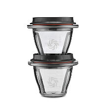 Vitamix Ascent Storage Containers with Spill-Proof Lids 225ml – Pack of 2