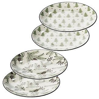 Festive Forest Christmas Side Plates – Set of 4