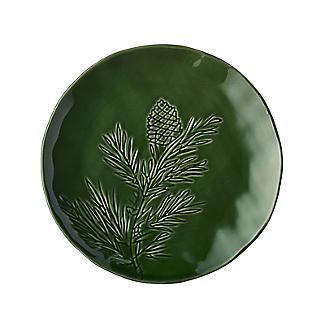 Festive Forest Pine Cone Plate Dark Green 20.5cm Dia.