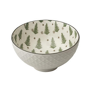 Festive Forest Textured Christmas Snack Bowls – Set of 2 alt image 4