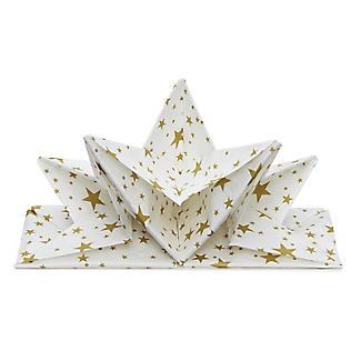 12 Lakeland Gold Star Folded Napkins