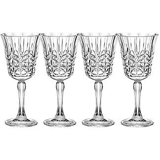 Crystal-Look Acrylic Wine Glasses – Set of 4
