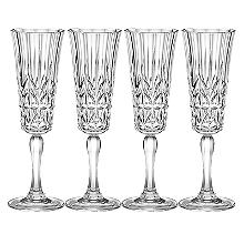 Crystal-Look Acrylic Flutes – Set of 4