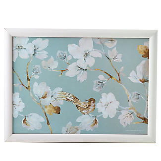 Duck Egg Floral Padded Lap Tray