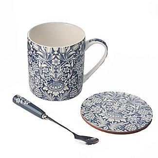 V&A Sunflower Mug, Spoon and Coaster Gift Set alt image 2