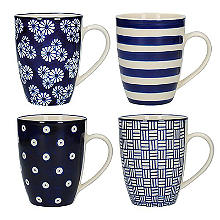 London Pottery Out of the Blue Mugs – Set of 4