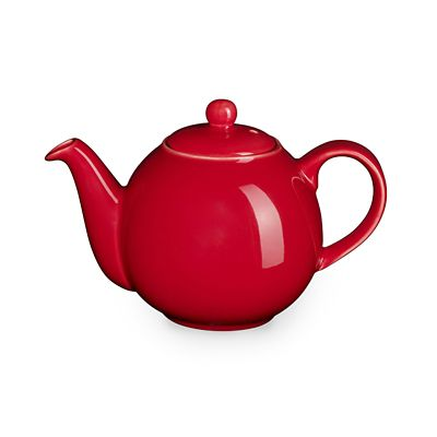 London Pottery 10 Cup Globe Teapot Red