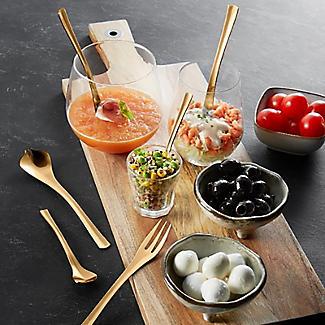 Amefa Celebration 10-Piece Tapas Party Cutlery Gift Set Gold alt image 2