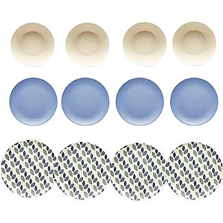 Summer Leaves Bamboo 12-Piece Dinner Set
