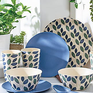 Summer Leaves Bamboo 12-Piece Dinner Set alt image 2