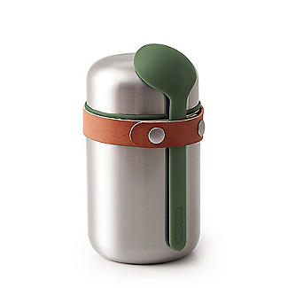 Black+Blum Stainless Steel Small Food Flask and Spoon 400ml