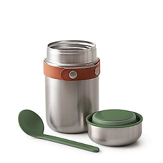 Black+Blum Stainless Steel Small Food Flask and Spoon 400ml alt image 2