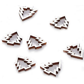 Wooden Christmas Tree Table Confetti