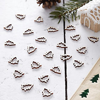 Wooden Christmas Tree Table Confetti alt image 2