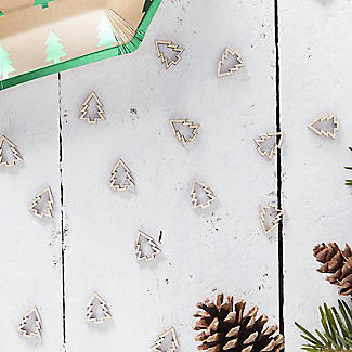 Wooden Christmas Tree Table Confetti alt image 4