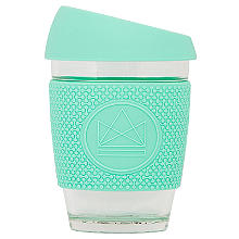 Neon Kactus Glass Eco Coffee Cup 300ml – Free Spirit Green