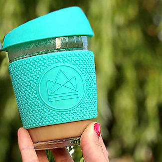 Neon Kactus Glass Eco Coffee Cup 340ml – Free Spirit Green alt image 3