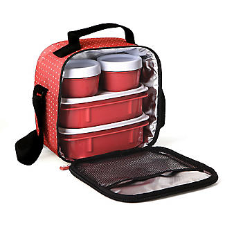 Tatay 5-Piece Urban Lunch Pack with 4 Food Containers – Red