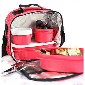 Tatay 5-Piece Urban Lunch Pack with 4 Food Containers – Red alt image 4