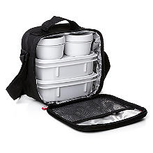 Tatay 5-Piece Urban Lunch Pack with 4 Food Containers – Black