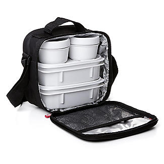Tatay 5-Piece Urban Lunch Pack with 4 Food Containers – Black alt image 1