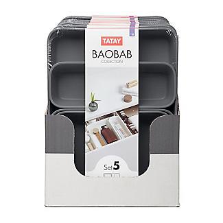 Tatay Baobab Organiser 4-Piece Set Grey alt image 7