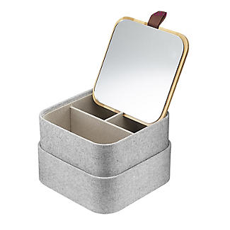Dressing Table Tidy with Mirrored Lid