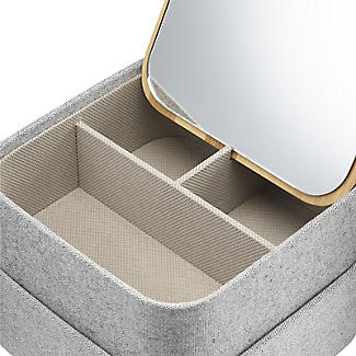 Dressing Table Tidy with Mirrored Lid alt image 2