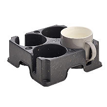 Muggi 4-Cup Mug Carrier – Dark Grey