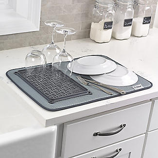 Polder Microfibre Dish Drying Mat and Glass Tray alt image 3