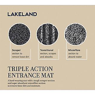 Lakeland Triple-Action Entrance Door Mat Charcoal 67 x 150cm alt image 4