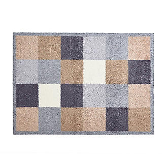 Natural Squares Indoor Turtle Mat 85 x 59cm