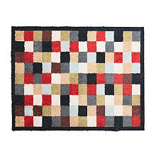 Hug Rug Indoor Mat Bright Mosaic Tiles 85 x 65cm